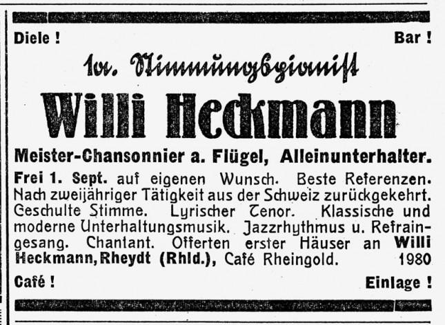 Willi Heckmann - Stimmungspianist